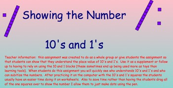Showing the number with 10's and 1's