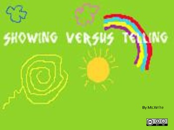 Showing versus Telling : Appeal to Audience Imagination