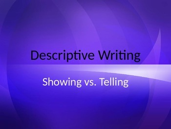 Showing vs. Telling PowerPoint