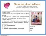Showing  vs. Telling Skitch Apptivity Task Card