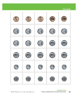 Shows Combinations of Coin Equivalencies