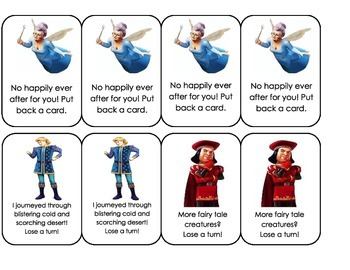 Shrek Cursive Recognition Card Game
