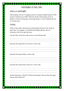 Shrek Film Study Booklet
