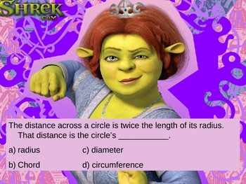 Shrek Geometry Bingo