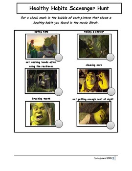 Shrek: Movie Buddy Activities and Lesson Plan