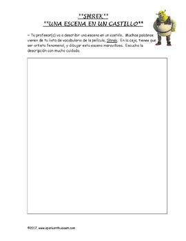 Shrek Movie Guide in Spanish (38 pages)