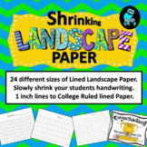 Shrinking Landscape Writing Paper