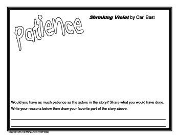 Shrinking Violet Reader's Response