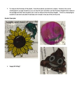 Shrinky-Dink Lab for Physical Changes and Law of Conservation of Mass