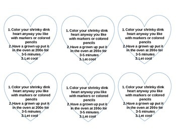 Shrinky Dink Printable Valentine