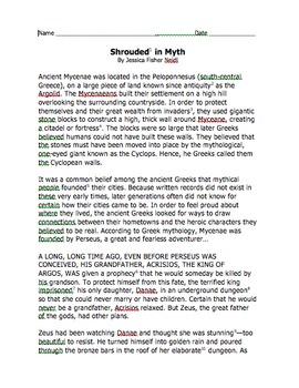 Shrouded in Myth Chunked Story & Bilingual Glossary (editable)