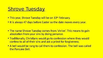 Shrove Tuesday, Ash Wednesday and Lent presentation