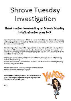 Shrove Tuesday Investigation 1-3