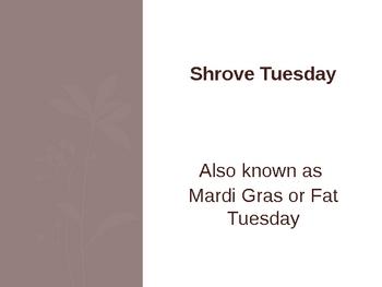 Shrove Tuesday Prayer PowerPoint
