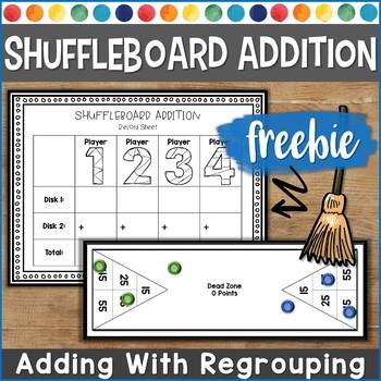 Shuffleboard Addition   Active Learning Math Game   FREEBIE