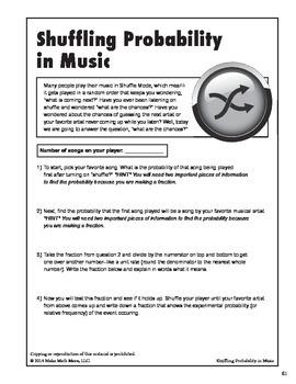 Shuffling Probability in Music