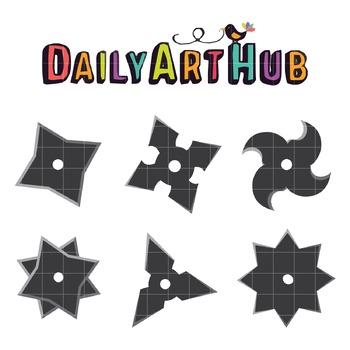 Shurikens Clip Art - Great for Art Class Projects!