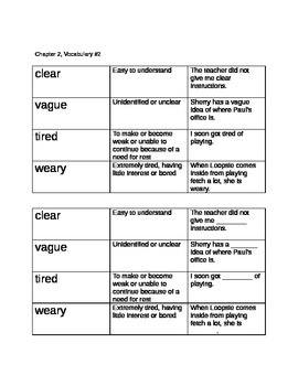 Shurley English 3- Vocab for Ch. 1-3