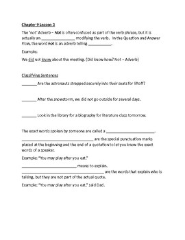 Shurley English Grade 4 Chapter 9