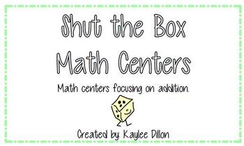 Shut the Box Dice Games Math Centers
