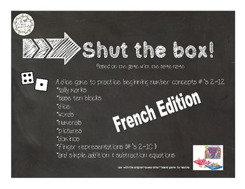 Shut the Box-French Edition