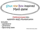 Shut the Box inspired game for Addition AND Multiplication
