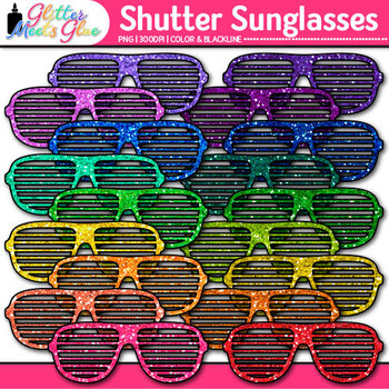 Shutter Sunglasses Clip Art {Summer Beach Graphics for Bulletin Board Ideas}