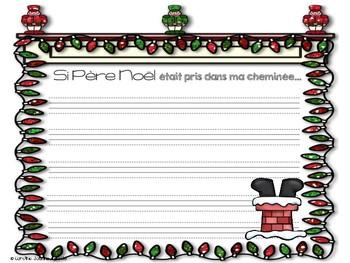 Si Père Noël était pris dans ma cheminée! Situation d'écriture avec bricolage