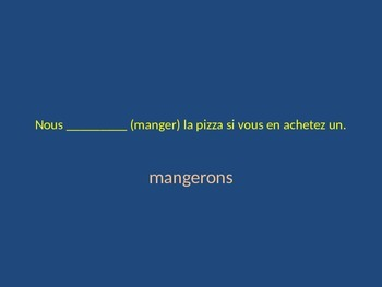 Si, Quand and Des Que Clause Powerpoint Practice