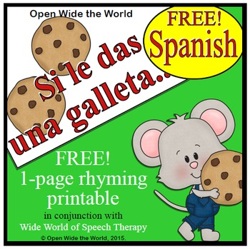 Si le das una galleta a un ratón - FREE Spanish Book Companion Printable