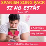 Si no estás: Spanish Song to Practice the verb ESTAR in the Present