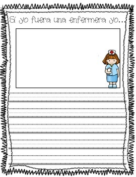 Si yo fuera....Spanish Writing Prompts