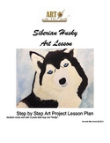 Siberian Husky Art Lesson- PDF Version