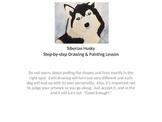 Siberian Husky Art Lesson- Power Point