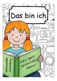 Sich vorstellen / Das bin ich: Deutsch / German beginners poetry / memory book