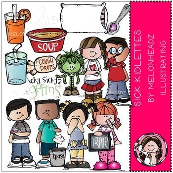 Sick Kidlettes clip art - COMBO PACK- by Melonheadz