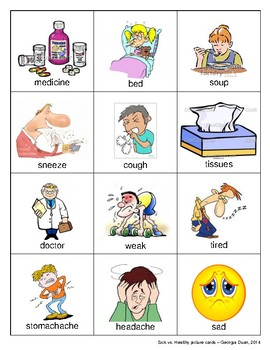 Sick vs. Healthy Picture Cards