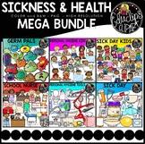 Sickness & Health Clip Art Mega Bundle {Educlips Clipart}