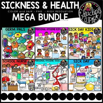 Sickness & Health Clip Art Mega Bundle {Educlips Clipart}