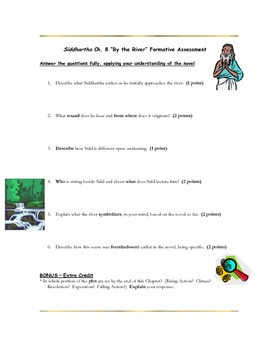 Siddhartha Ch. 8 Common Core Reading Assessment
