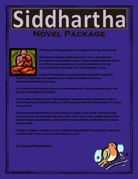 Siddhartha Complete Novel Package