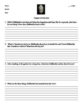 Siddhartha Herman Hesse Chapter 10 Handout