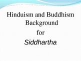 Siddhartha, Hinduism, and Buddhism PowerPoint for Teaching the Novel