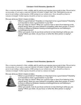 Siddhartha Literature Circle Discussion Question 4