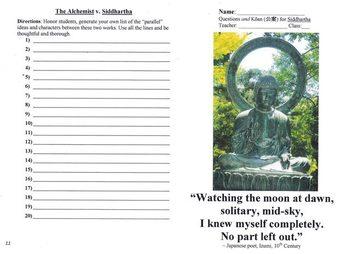 Siddhartha Novel Unit (with The Alchemist, Into the Wild, Matrix & Cave)