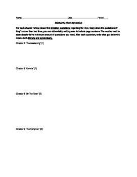 Siddhartha River Symbolism Worksheet