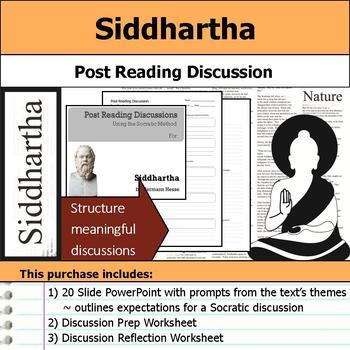 Siddhartha - Socratic Method - Post Reading Discussions
