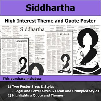 Siddhartha - Visual Theme and Quote Poster for Bulletin Boards