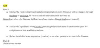 Siddhartha Writing Activity-For Ch. Gotama