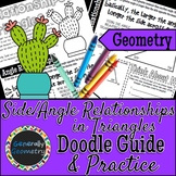 Side & Angle Relationships in Triangles Doodle Notes & Pra